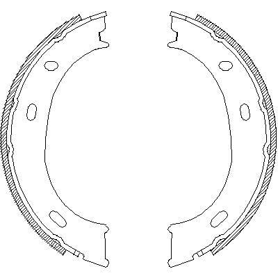 Колодки тормозные ручника Mercedes Sprinter/ Classic