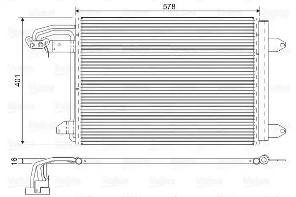 Радиатор кондиционера AUDI A3 (8P1) [2011 - ] VALEO 817777