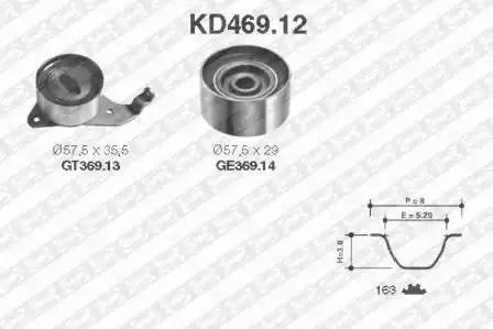 Ремкомплект ГРМ, SNR, KD46912