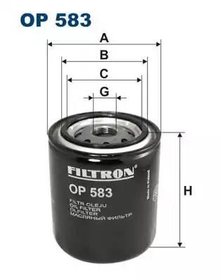 Фильтр масляный, FILTRON, OP583