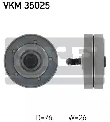 Ролик натяжной ремня ГРМ, SKF, VKM35025