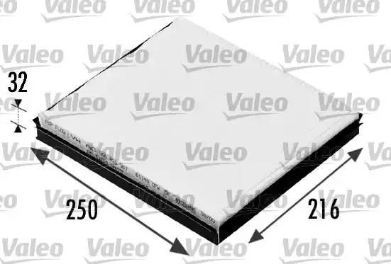 Фильтр салона AUDI A1 (8X1) [2010 - ] VALEO 698685