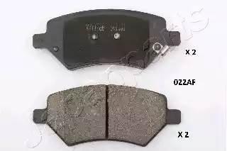 PA-022AF колодки дисковые передние Chery A3/Tiggo 1.6-2.0 05