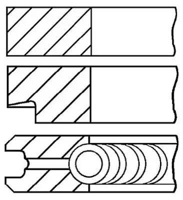 Комплект поршневых колец AUDI A3 (8L1) [2000 - ] GOETZE ENGINE 08-148300-00