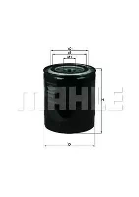 Фильтр масляный (10) L200 NEW MAHLE / KNECHT арт.  OC274
