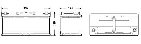Аккумулятор AGM 105Ah