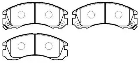 колодки тормозные передние 149,9*59 Mitsubishi Lancer 2.0 08-, Outlander I, II 03-, Pajero II 90- , Peugeot 4007 07-