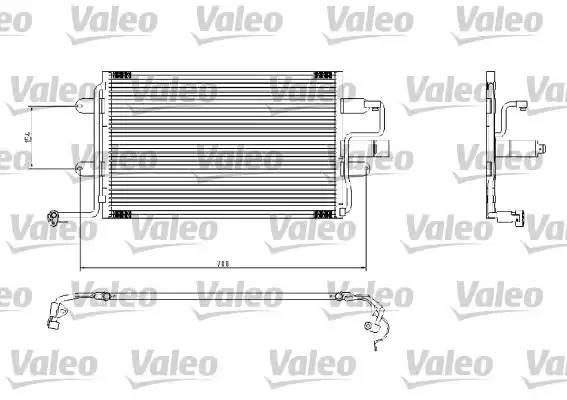 Радиатор кондиционера AUDI A3 (8L1) [2000 - ] VALEO 817244