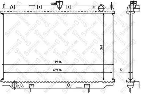 Радиатор охлаждения P11 STELLOX