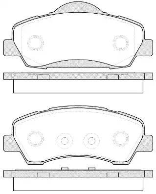 1530 00 колодки дисковые передние Peugeot 301 1.2VTi/1.6VTi 12