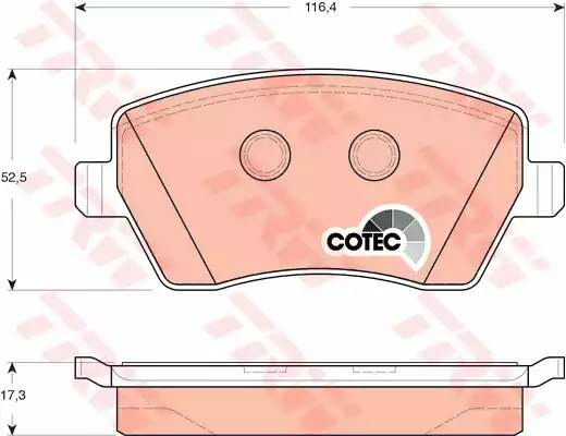 GDB3332 колодки дисковые передние 23973 116.4x52.5x17.3 Nissan Micra 1.2i-1.5C