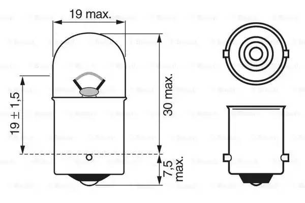 Лампа накаливания' Longlife Daytime R5W' 12В 5Вт