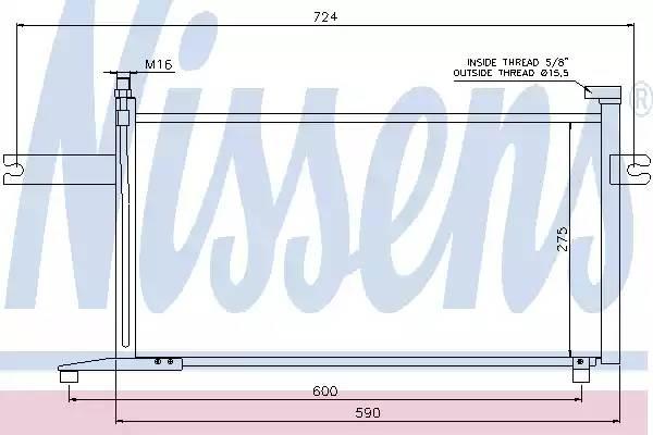 Радиатор кондиционера NISSAN MICRA II (K11) [2000 - 2003] NISSENS 94498