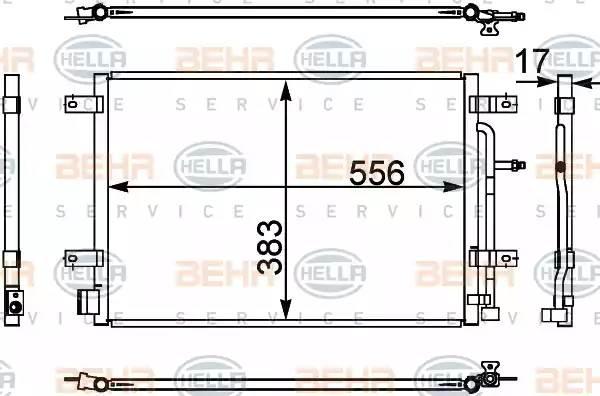 Радиатор кондиционера AUDI A4 (8EC, B7) [2004 - 2008] BEHR HELLA SERVICE 8FC 351 302-441