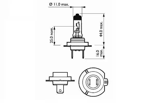 Лампа галоген' H7' 12В 55Вт, 1шт