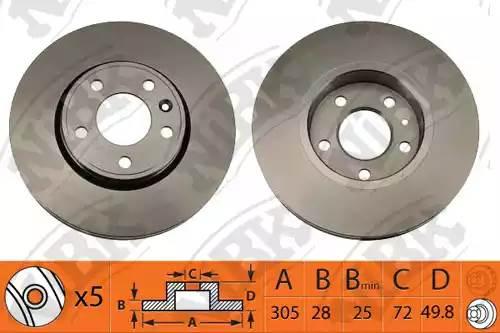RN1427-NIBK диск тормозной передний Infiniti FX35/FX37/FX50/G35/G37 03