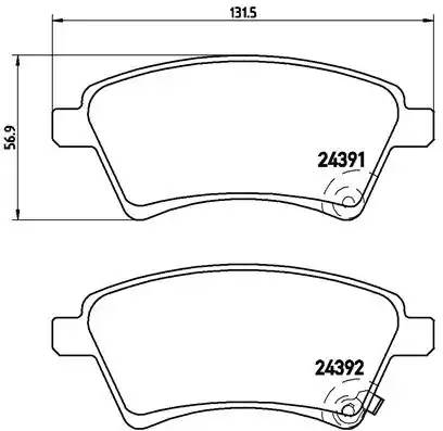 P23105 1215 01 [5581079J00] колодки дисковые п. Fiat Sedici, Suzuki SX4 1.5i