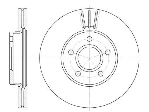 диск тормозной передний 278 мм