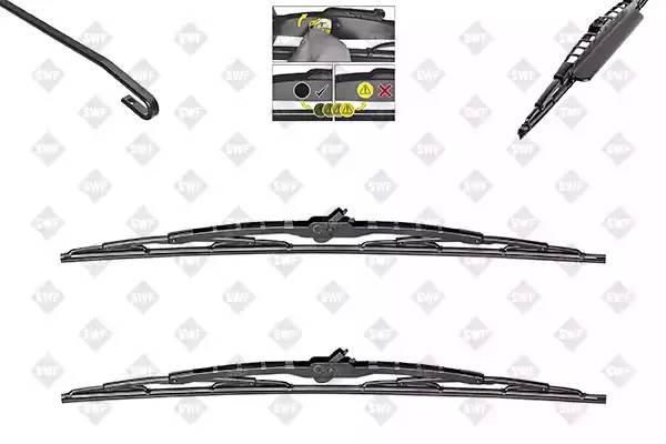 SWF116 351  щетки к-т со спойлером\ 530mm+475mm Audi A3,VW Bora/Golf4 97-04