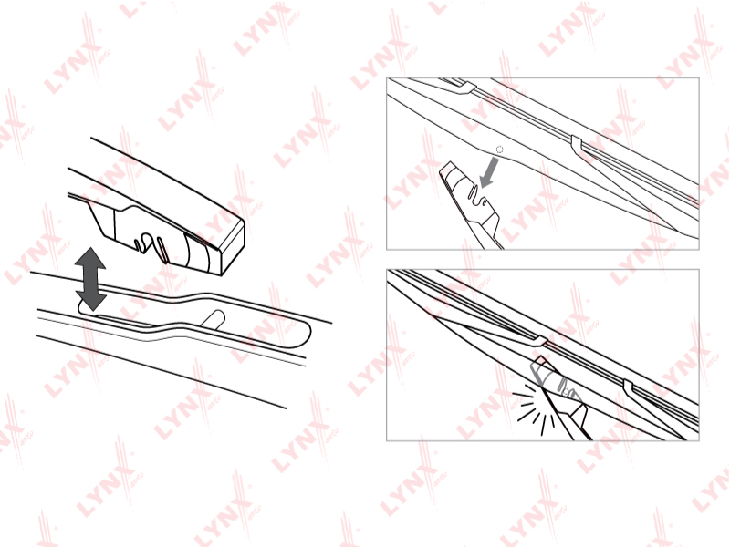 Щетка стеклоочистителя задняя P308/P3008/Duster/C3 (A51) LYNX арт.  LR30C