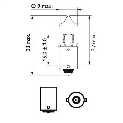 Лампа накаливания' Vision H5Вт' 12В 5Вт