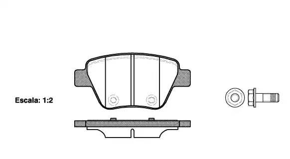 1420 00 [5K0698451] колодки дисковые з. Audi A3, VW Golf, Skoda Yeti/Superb, S