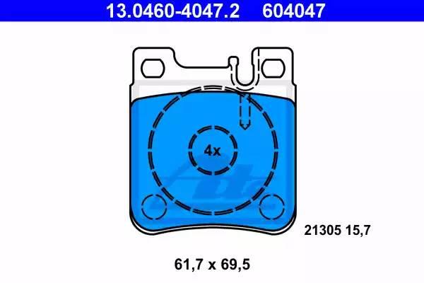 Колодки дисковые, ATE, 13046040472