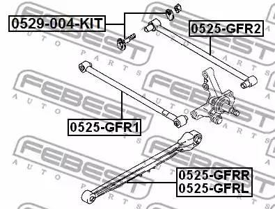 0525GFRR рычаг задней подвески продольный правый Mazda 626 GF all 97