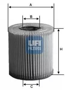 Фильтр масляный,UFI, 2507700