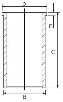 Гильза цилиндра MB OM601/602/603 2.3D/2.9D/3.5D =89mm