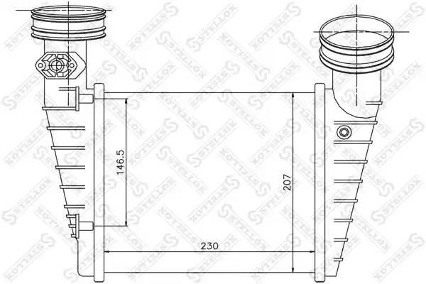 Интеркулер, STELLOX, 1040157SX