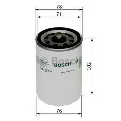 Фильтр масляный, BOSCH, F026407027
