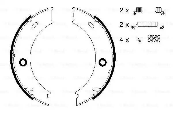0 986 487 611 колодки барабанные ручника MB Sprinter 4 кроме 408CDi 96