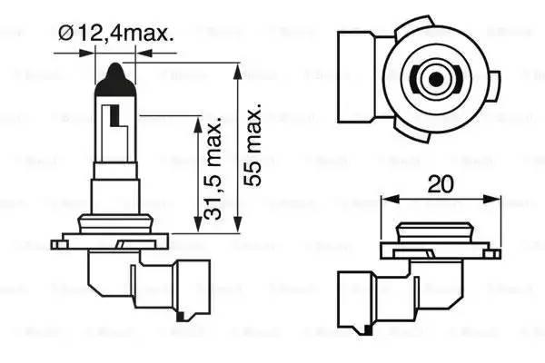 Лампа галоген' Pure Light H10' 12В 42Вт