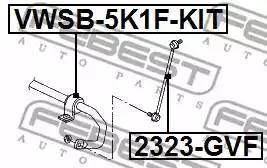 Втулка стабилизатора переднего VWSB5K1FKIT