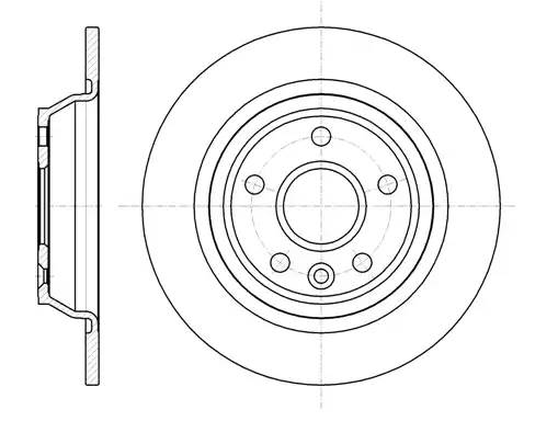 диск тормозной задний 302 X 11