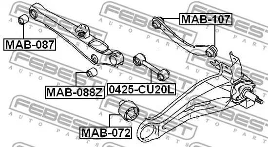 MR494911/ MAB107 С/б вер попер рыч зад подв Febest