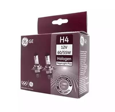 Лампа галоген' H4' 12В 60/55Вт, 2шт