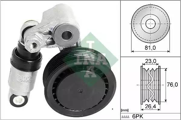 Ролик с механизмом натяжения, INA, 534001110