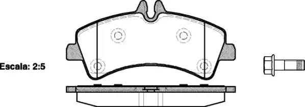 Колодки тормозные задние 906 509-515CDI