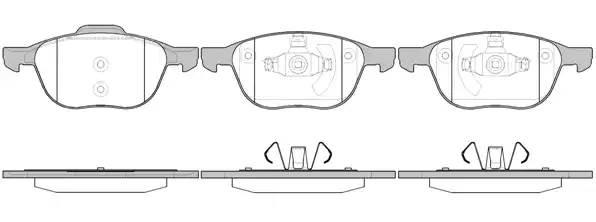 колодки передние