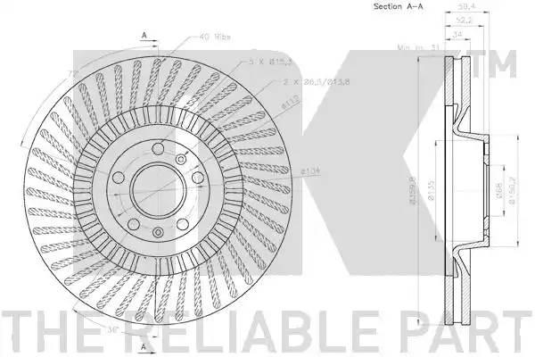 Передние тормозные диски Ауди А8 3.0 quattro