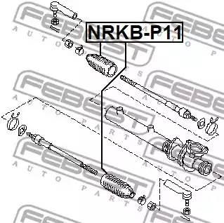 NRKB-P11 пыльник рейки рулевой правый с г/у Nissan Maxima QX A32 2.0-3.0 95-00