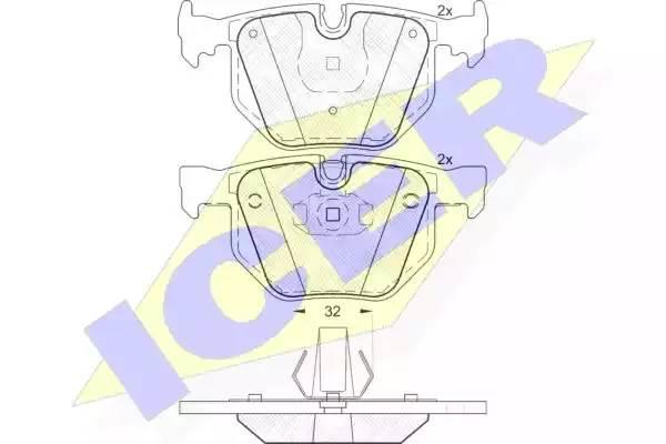 Тормозные колодки задние БМВ Х5 E70