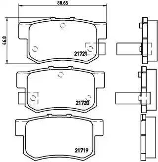 P28022 GDB1063 325 22 колодки дисковые з. Honda Prelude 2.0i-2.3i & 4WD 92-96