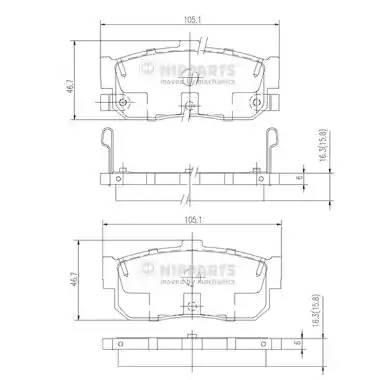 Колодки задние CA33, P11, A32 NIPPARTS