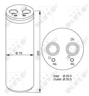 Осушитель кондиционера AUDI A4 (8E2, B6) [2000 - 2002] NRF 33205