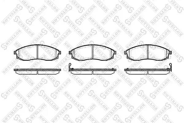 609 002-SX 598 02 колодки дисковые п. Nissan Maxima QX 2.5i 24V/3.0i 95-00