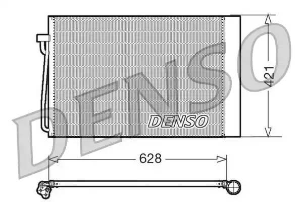 Радиатор кондиционера BMW 5 (E60) [2003 - 2010] DENSO DCN05018