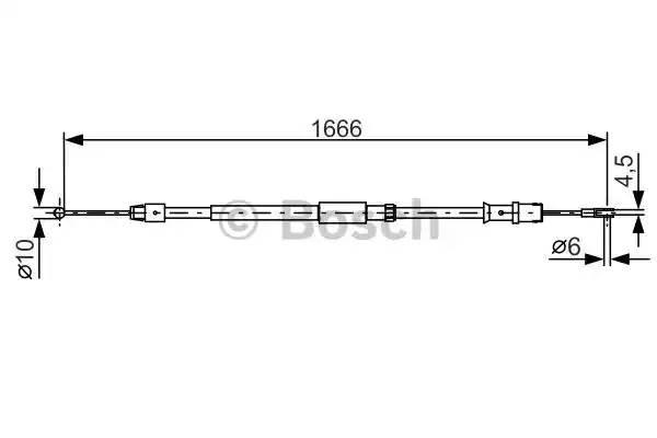 Трос ручника задний 906 односкат